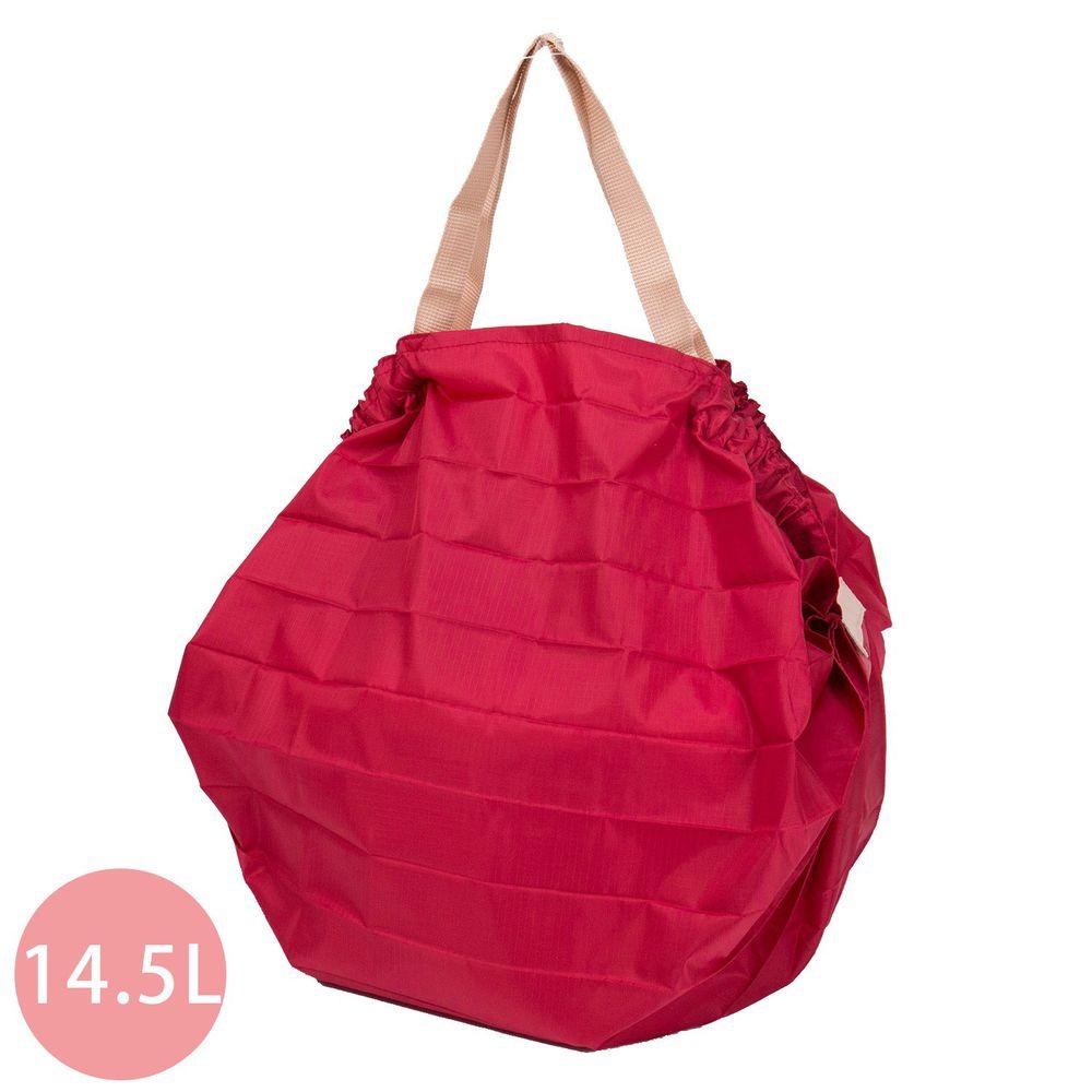 日本 MARNA - Shupatto 秒收摺疊購物袋-熱情紅 (M(30x35cm))-耐重5kg / 14.5L