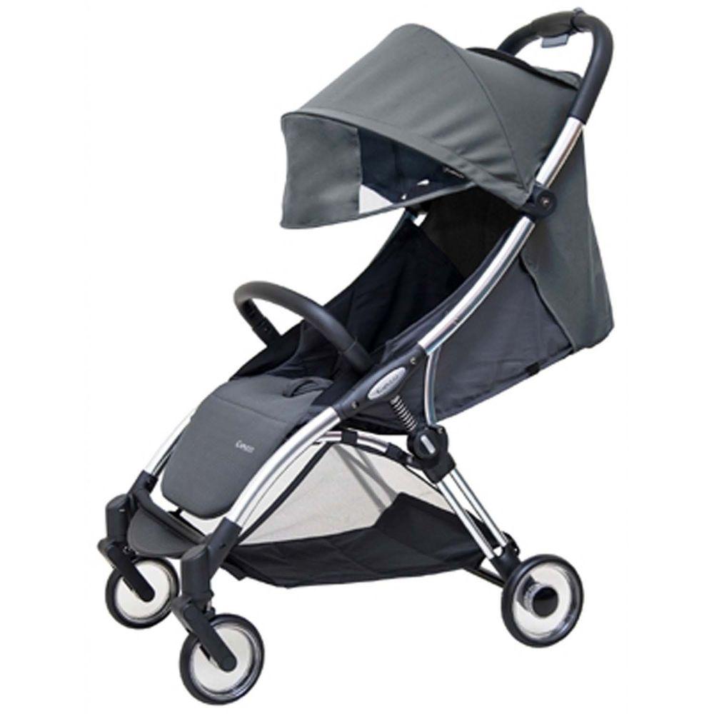 美國卡普奇Capucci - 自動收合登機手推車+卡普奇專用新生兒墊-深空黑-贈專屬蚊帳