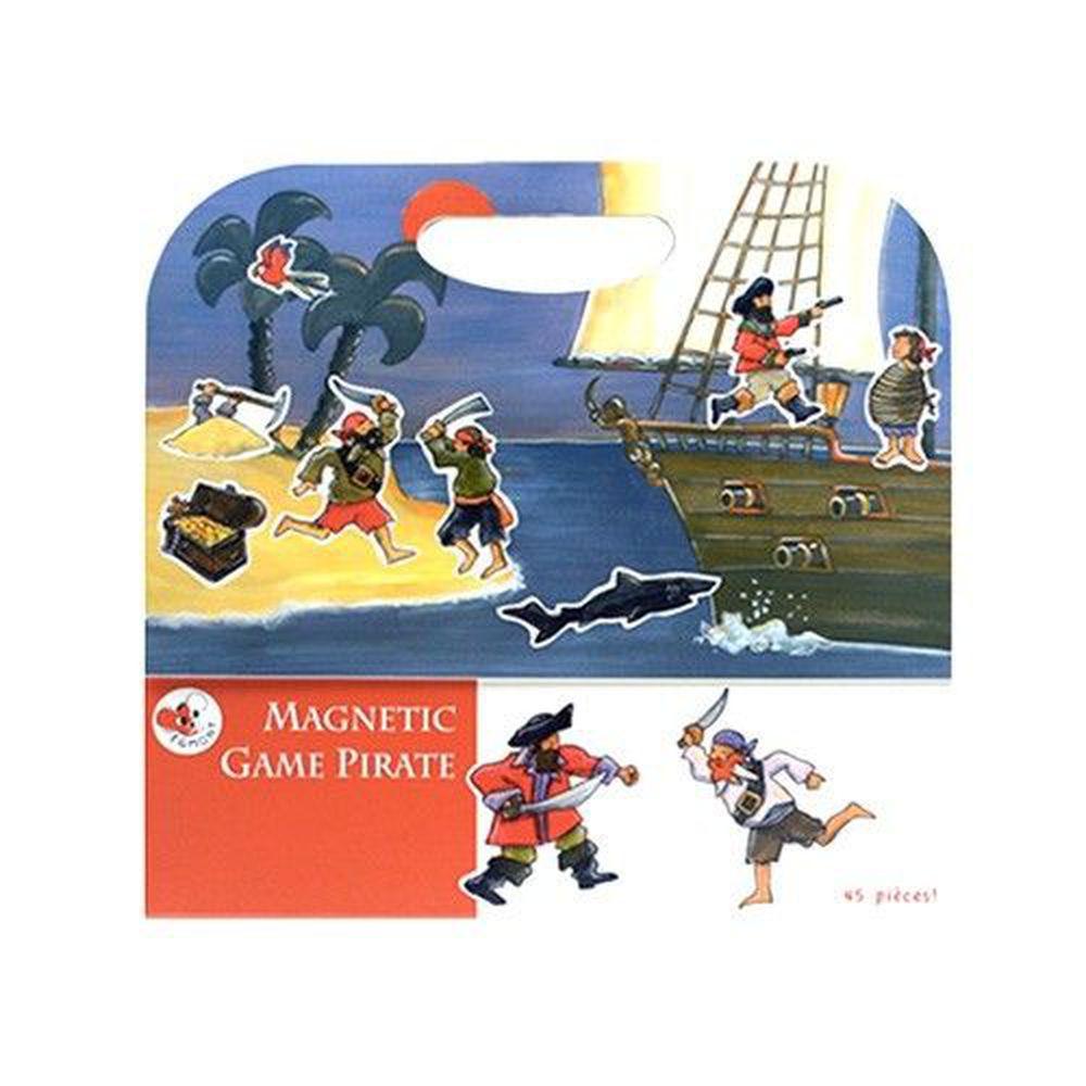 比利時艾格蒙 - 繪本風磁鐵書-海盜船冒險故事-25x24x1 cm