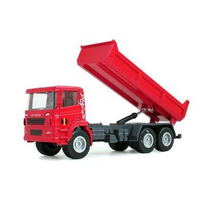 工程車-自卸卡車(紅)-關節可動