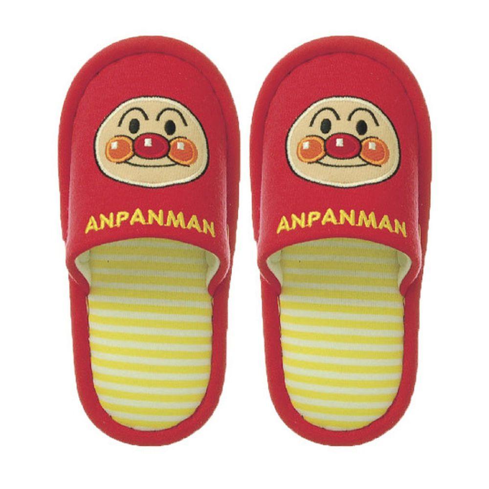 日本千趣會 - 兒童室內拖鞋-麵包超人-紅 (14-16cm)