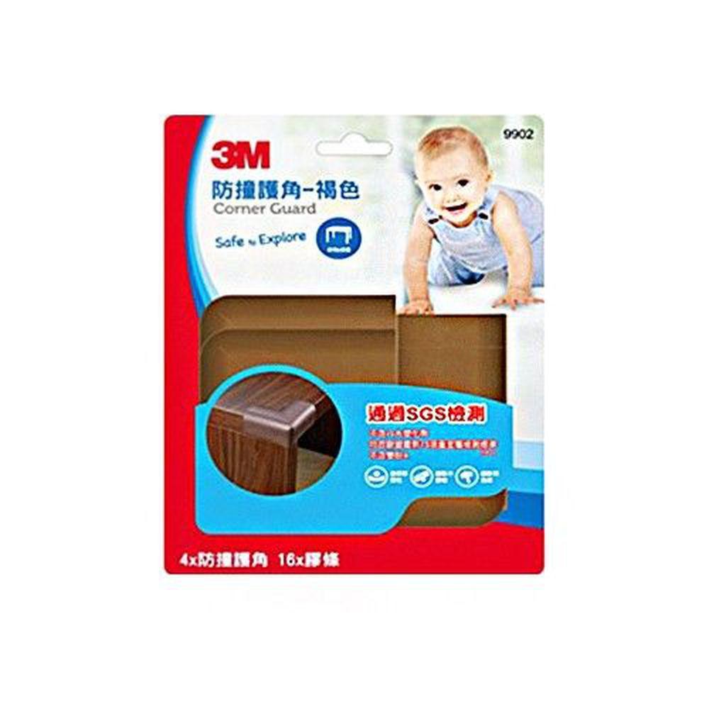 3M - 兒童安全防撞護角/桌角護墊-褐色 (7x7x3cm)