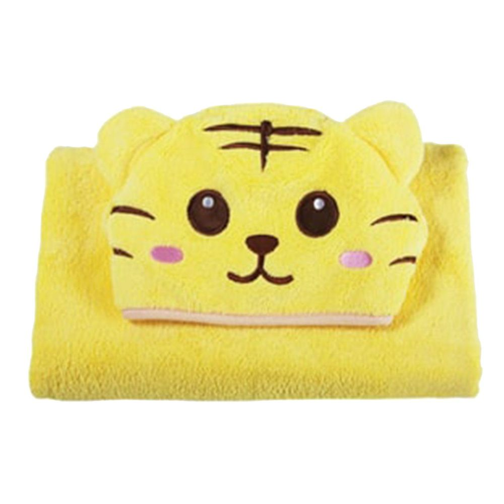 COTEX 可透舒 - 可愛動物大浴巾-泰可虎-黃色