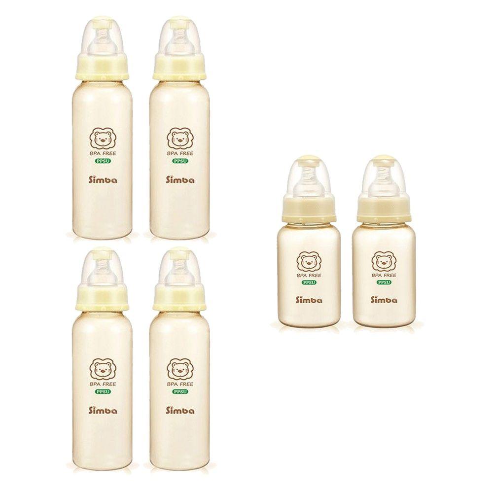 Simba 小獅王辛巴 - PPSU 標準奶瓶6入組-內含150ml*2、240ml*4