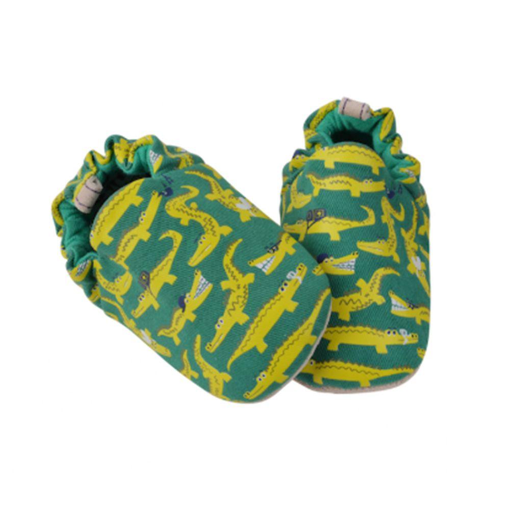 英國 POCO NIDO - 寶寶手工鞋/學步鞋-鱷魚去旅行