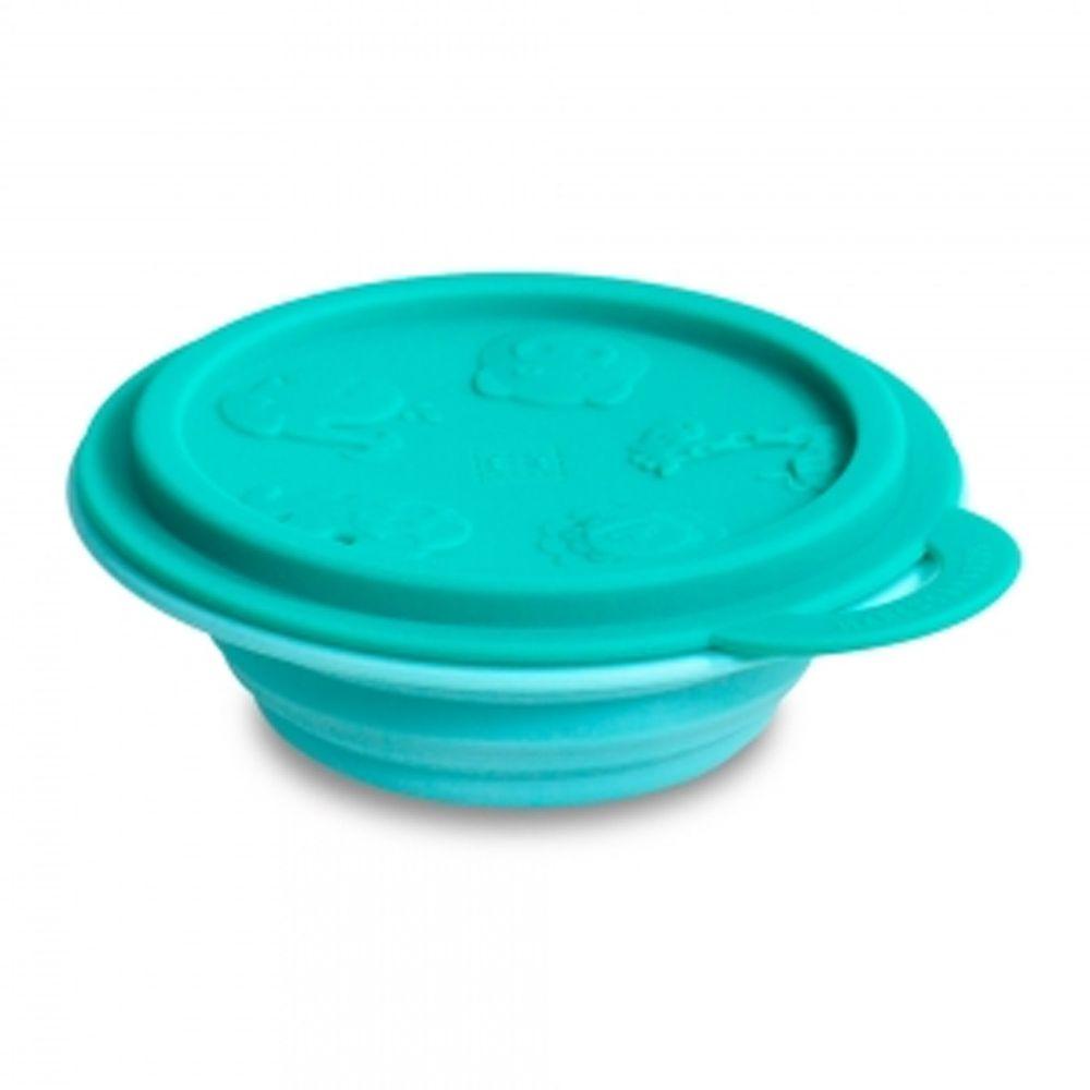 MARCUS&MARCUS - 動物樂園矽膠摺疊碗-綠大象