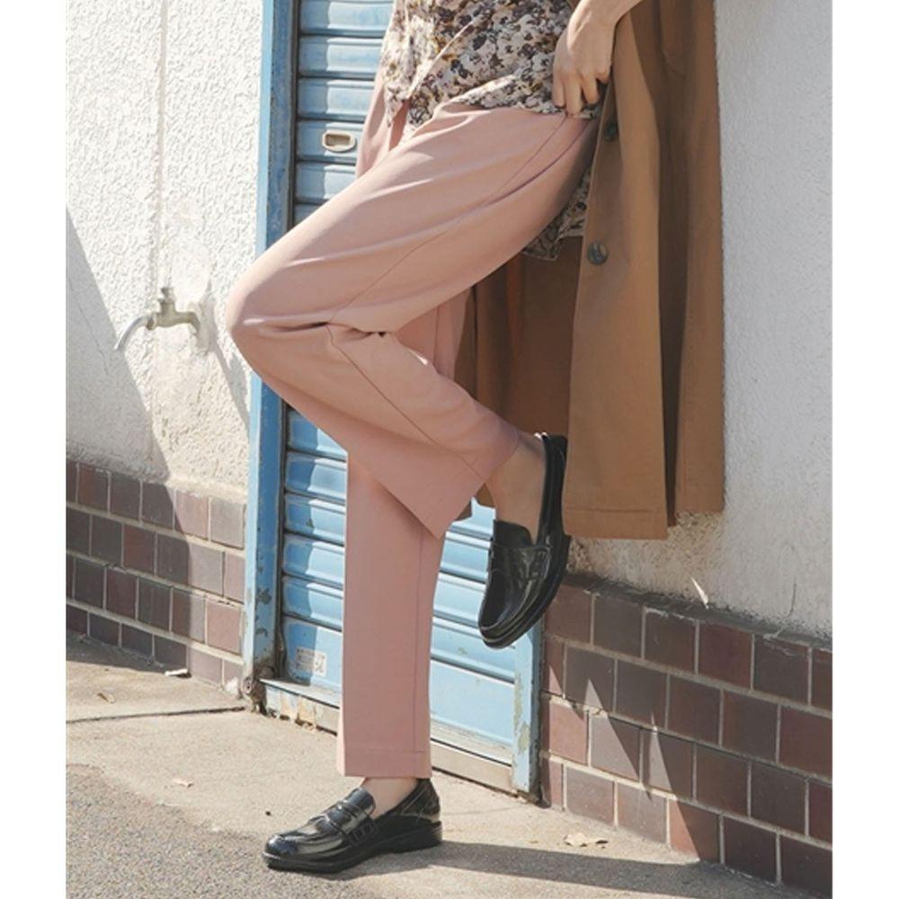 日本 zootie - 美腿彈性復古雪紡哈倫西裝長褲-灰粉