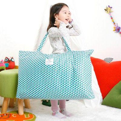 防水睡袋收納袋-幾何三角形-藍綠