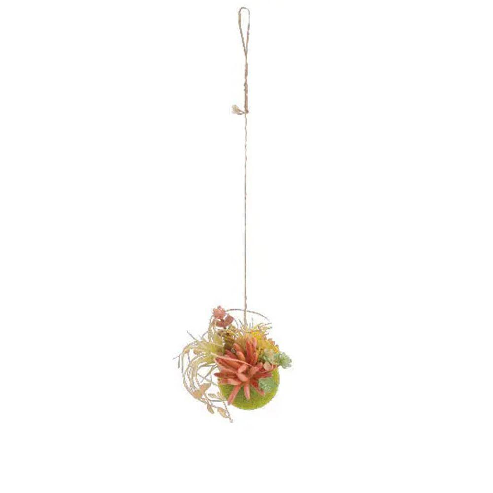 日本 KISHIMA - CT觸媒 消臭仿真多肉掛飾/盆栽球-KH-61196 (S(12.5x12x55cm))