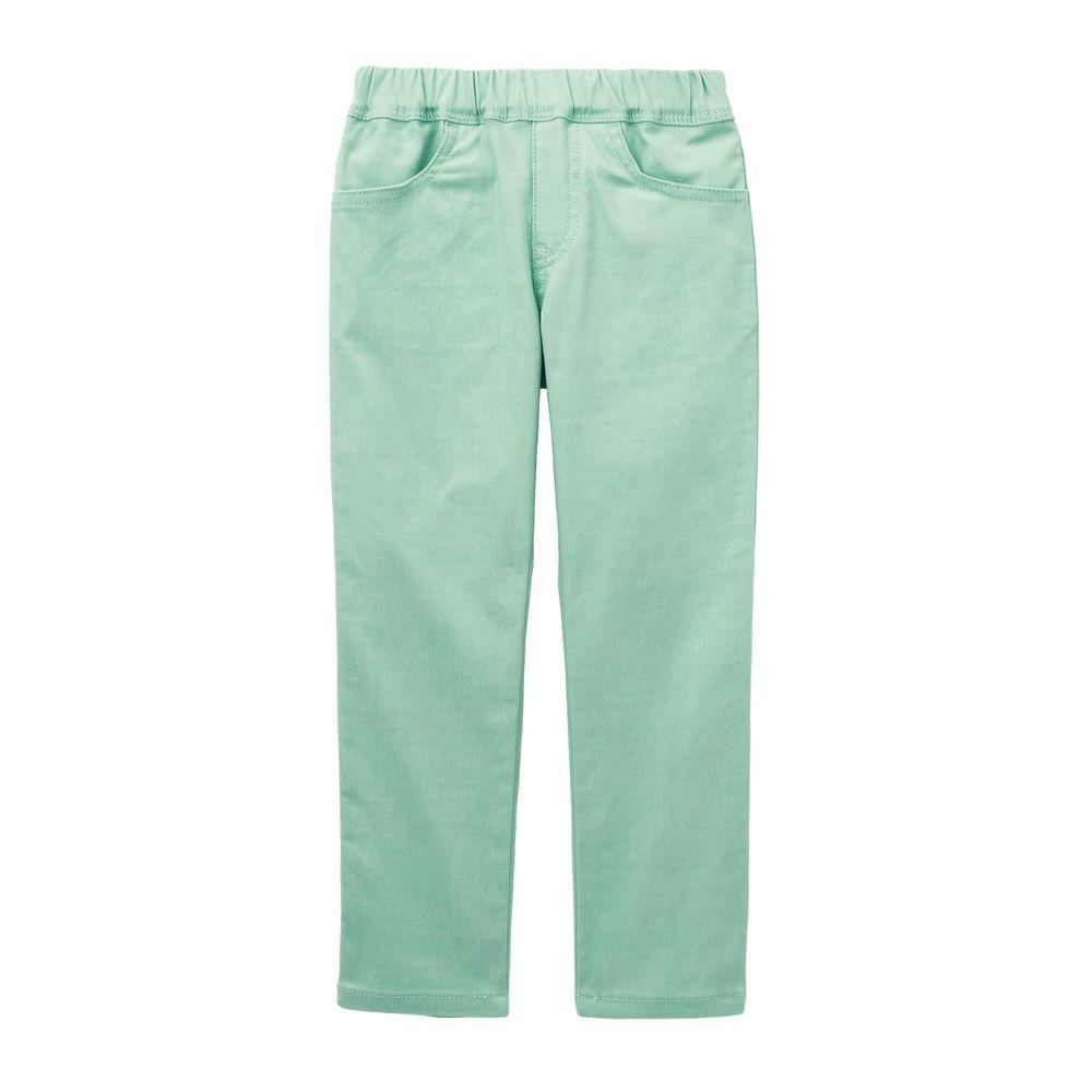 日本千趣會 - GITA 高彈性好動直筒口袋長褲-薄荷