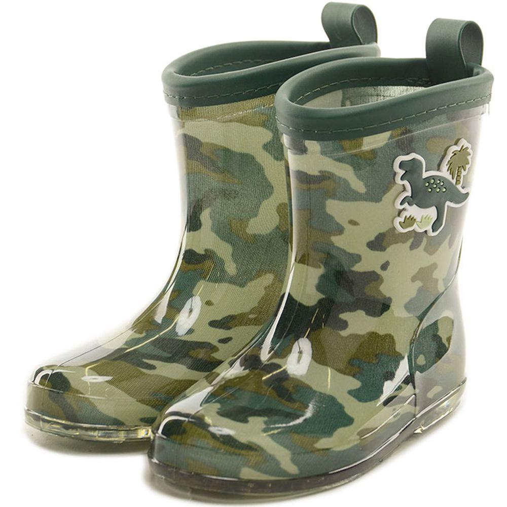 akachan honpo - 雨鞋-恐龍-綠色