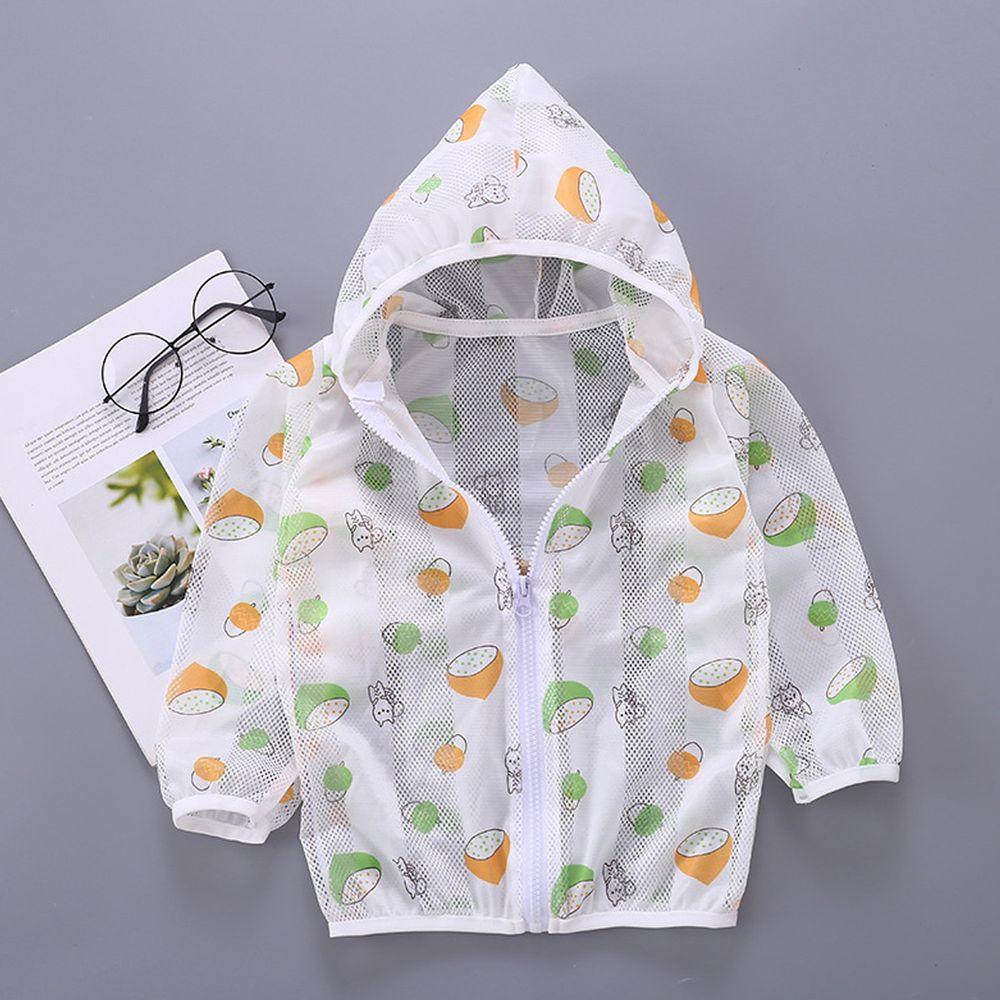 輕薄透氣防曬外套-青橙檸檬