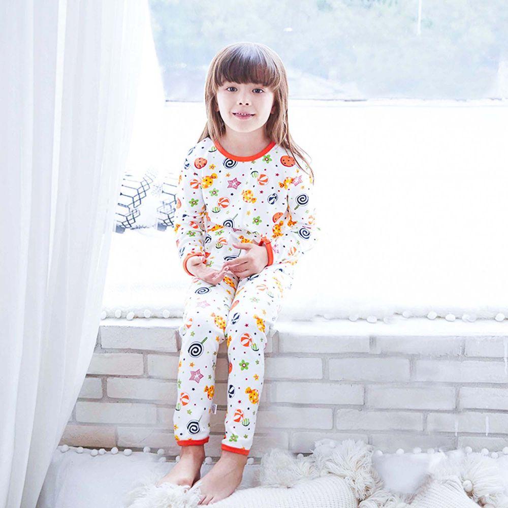 ZIHOU - 兒童秋季純棉居家服-糖果樂園