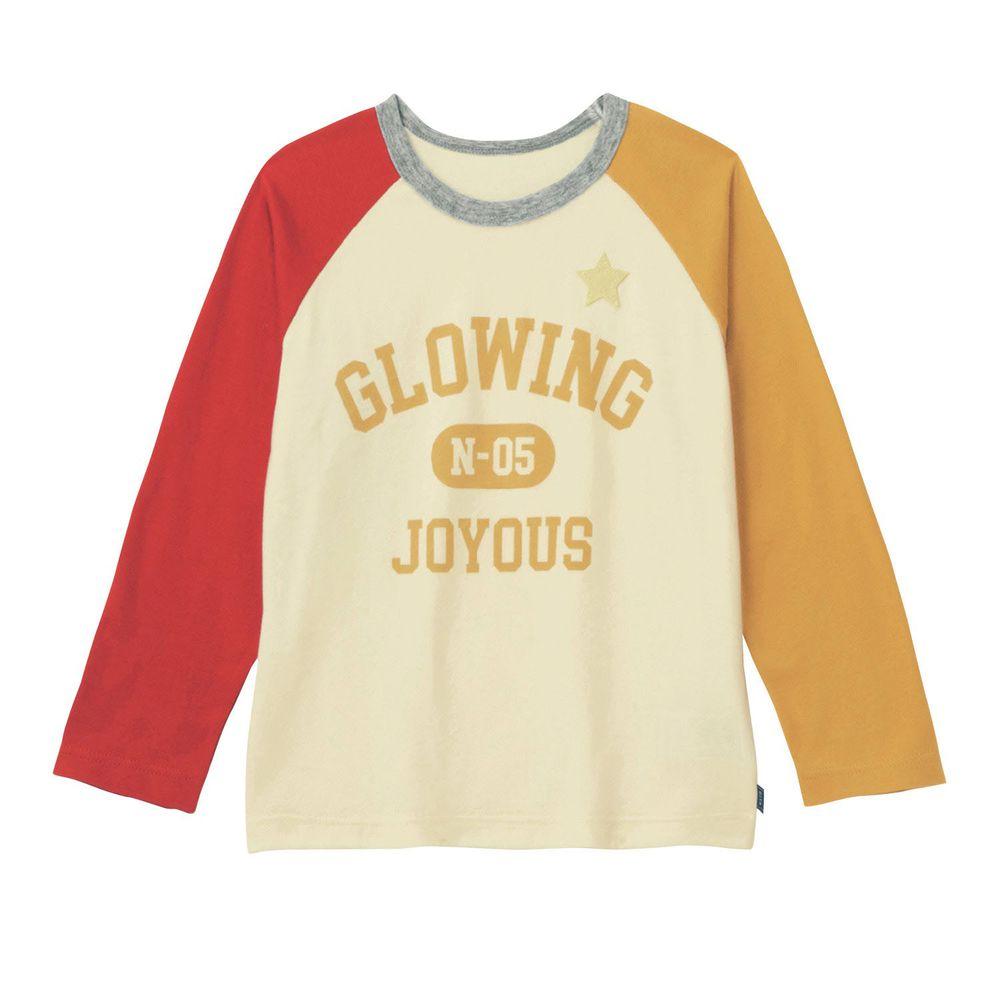日本千趣會 - GITA 純棉輕薄舒適長T-美式英文-紅米黃