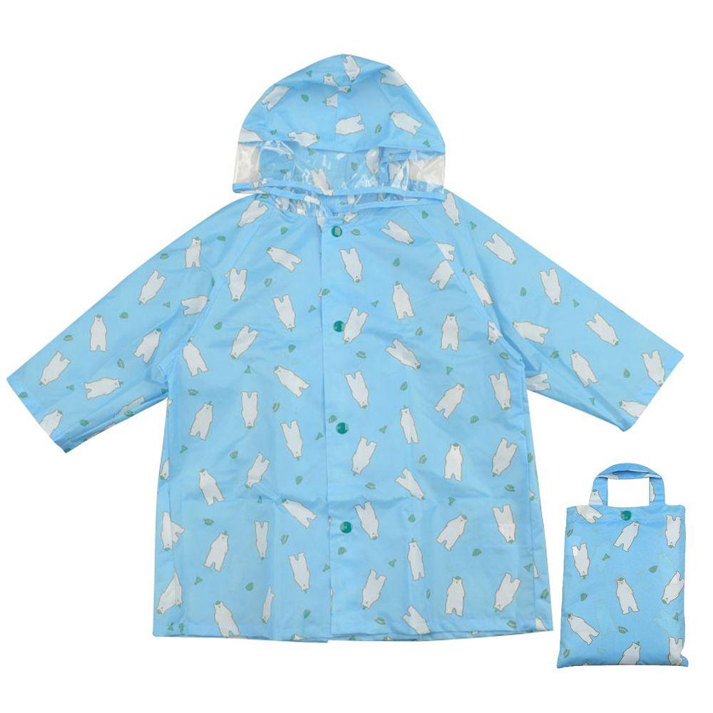 akachan honpo - 雨衣-白熊-淡藍色
