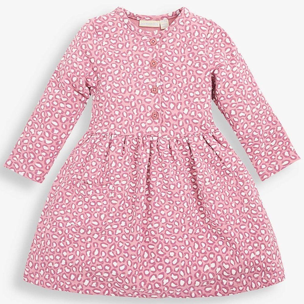 英國 JoJo Maman BeBe - 嬰幼兒/兒童長袖洋裝-粉紅豹