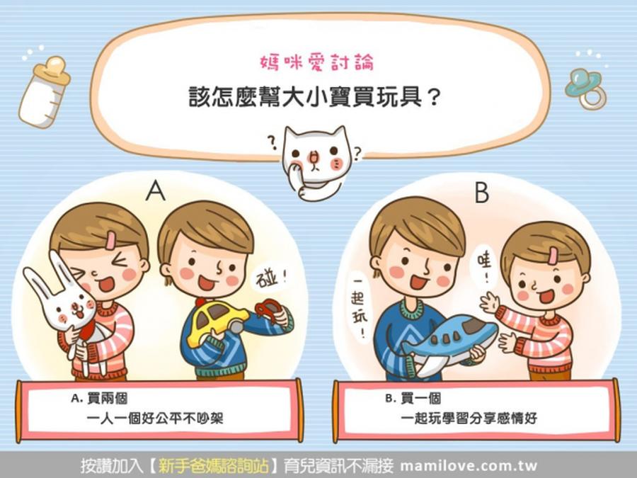 該怎麼幫大小寶買玩具?
