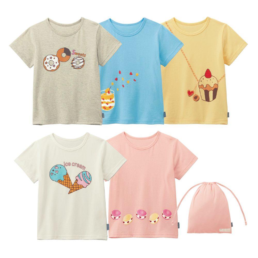 日本千趣會 - 超值內衣/T恤五件組 (短袖)-可口甜點