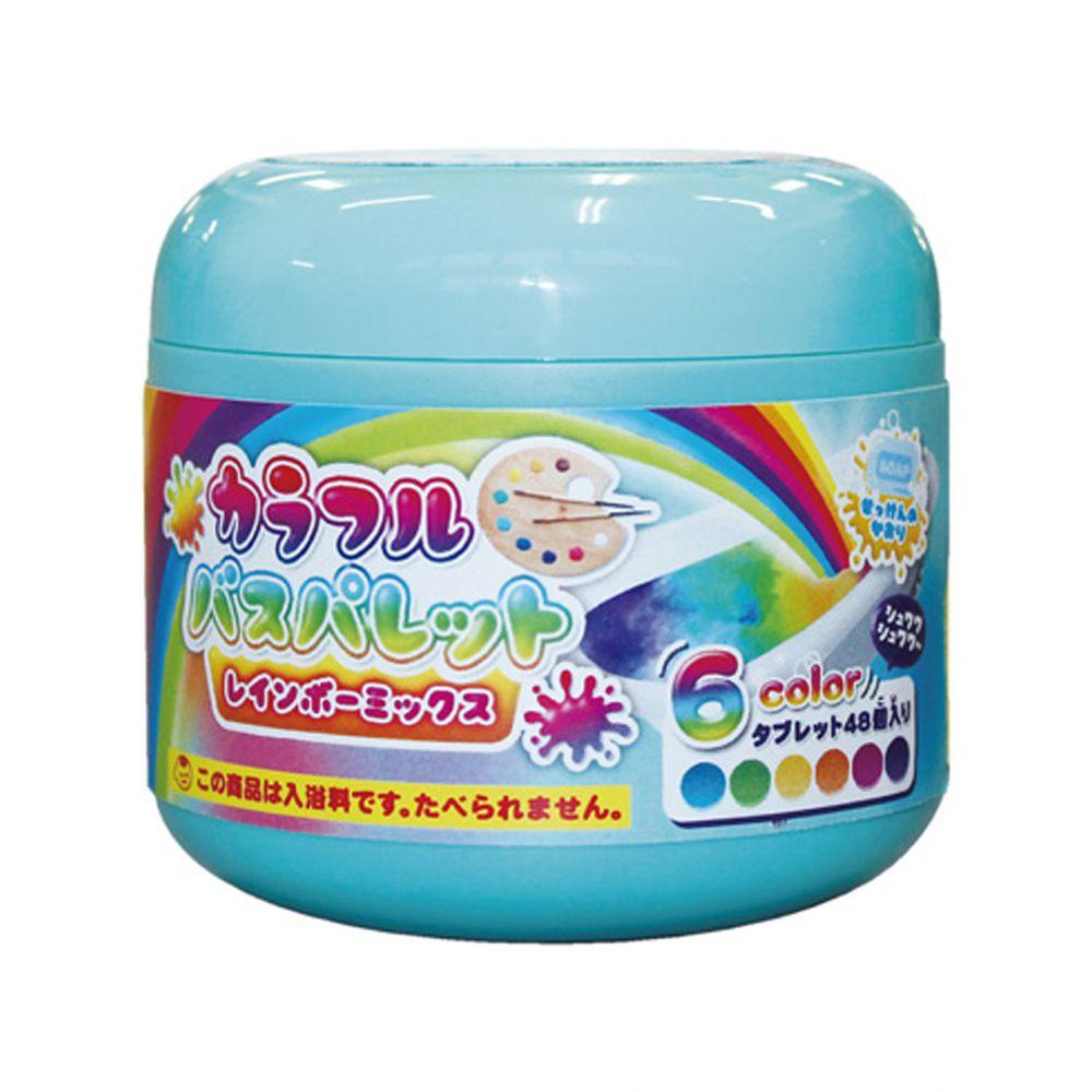 日本 NOL - 趣味調色盤入浴錠(彩虹)-超值罐裝組-126g