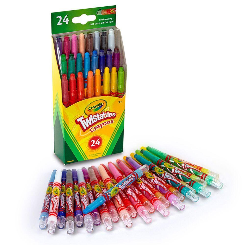 Crayola繪兒樂 - 迷你裝旋轉蠟筆經典色24色