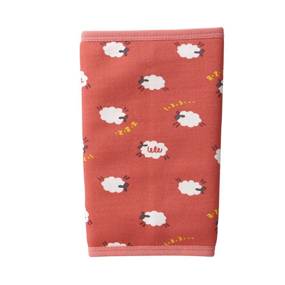 日本丸和 - 雙層機能裏起毛保暖襪套-小綿羊-粉紅 (13x20cm)
