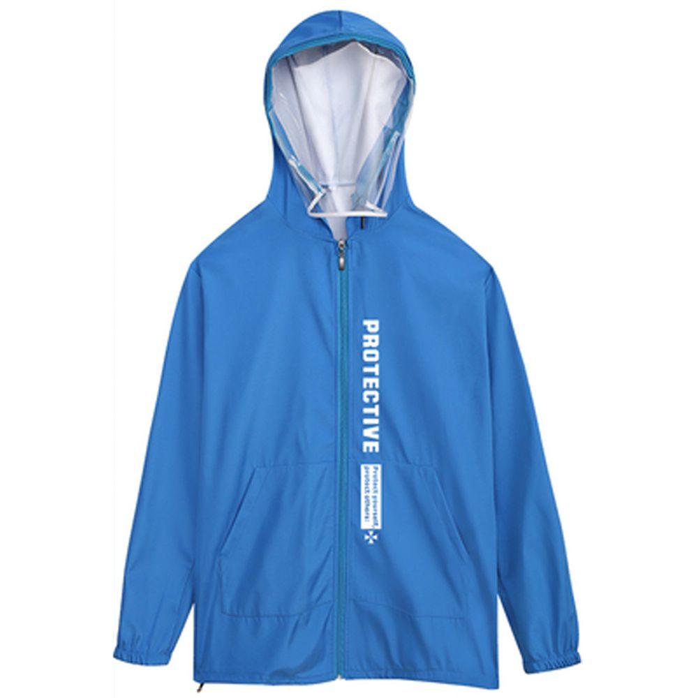 防飛沫連帽外套-一般款-藍色印花-(非醫療用品)