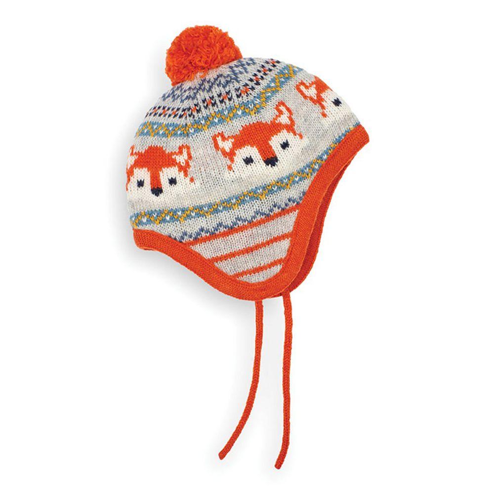 英國 JoJo Maman BeBe - 保暖舒適羊毛帽-可愛狐狸