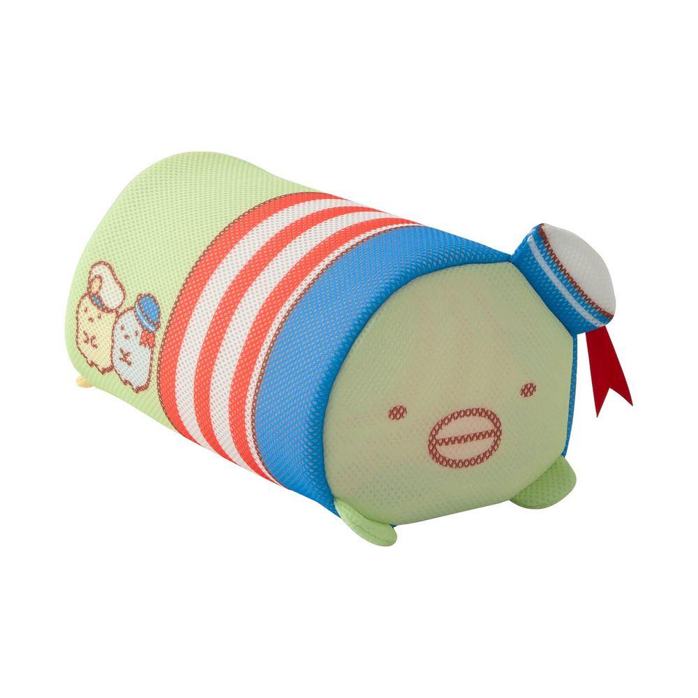 日本千趣會 - 角落生物 日本製圓筒洗衣網/衣物收納袋-水手限定款-偽企鵝 (16x26x14cm)