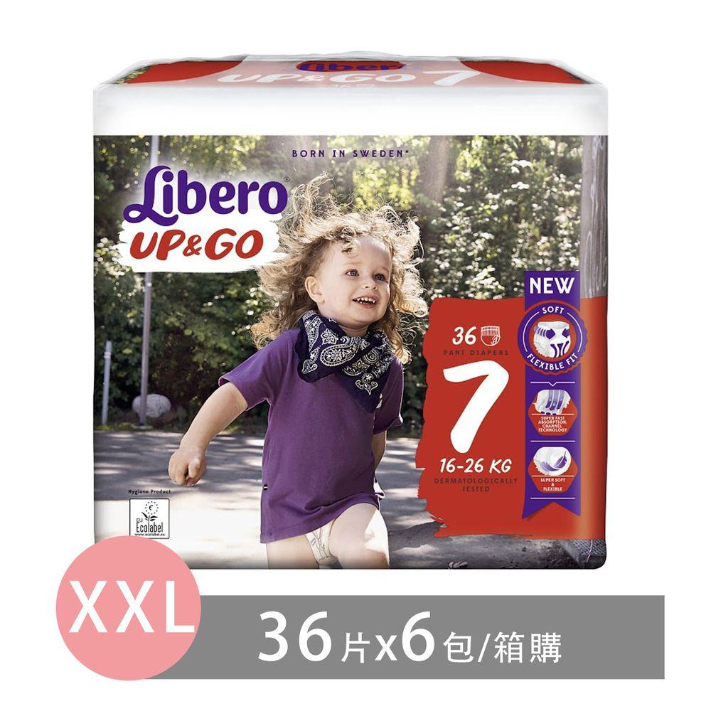 麗貝樂 - 褲型紙尿褲-敢動褲7號(新升級)-超薄合身超好動 (XXL/7號)-36片×6包