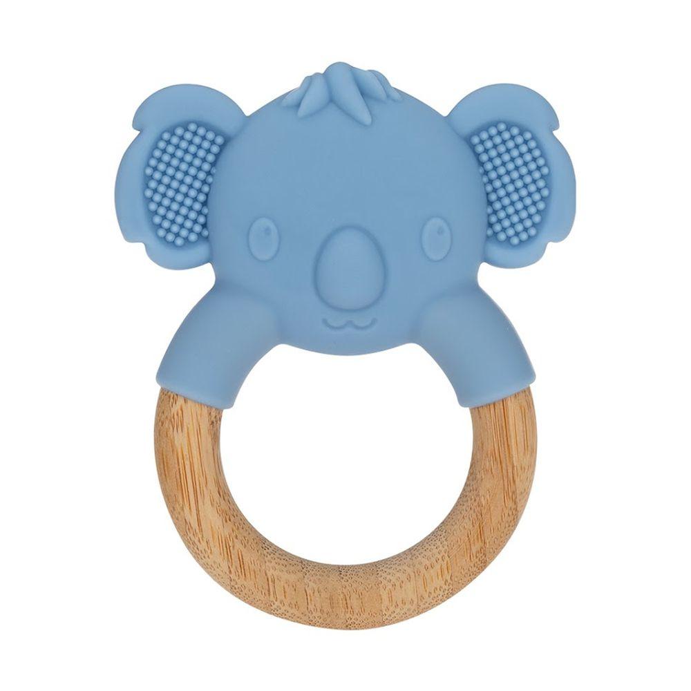 Nuby - 矽膠造型櫸木固齒器-無尾熊