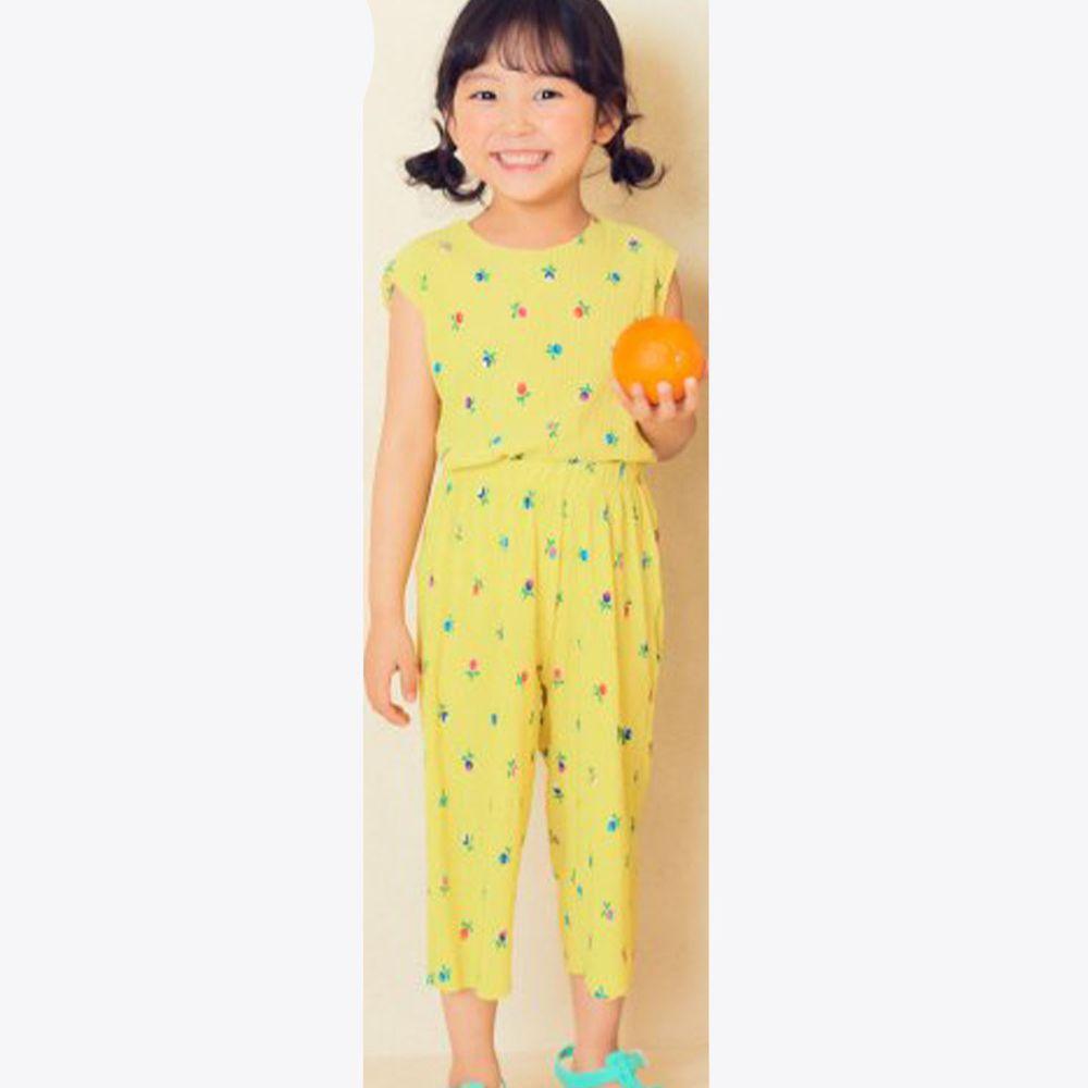 韓國 Hanab - 小花朶涼感套裝-黃