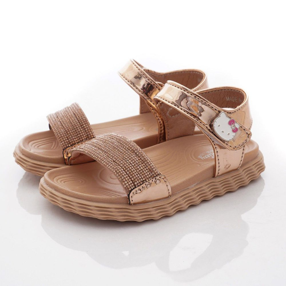 HELLO KITTY - 專櫃晶亮氣質涼鞋款(小童段)-金