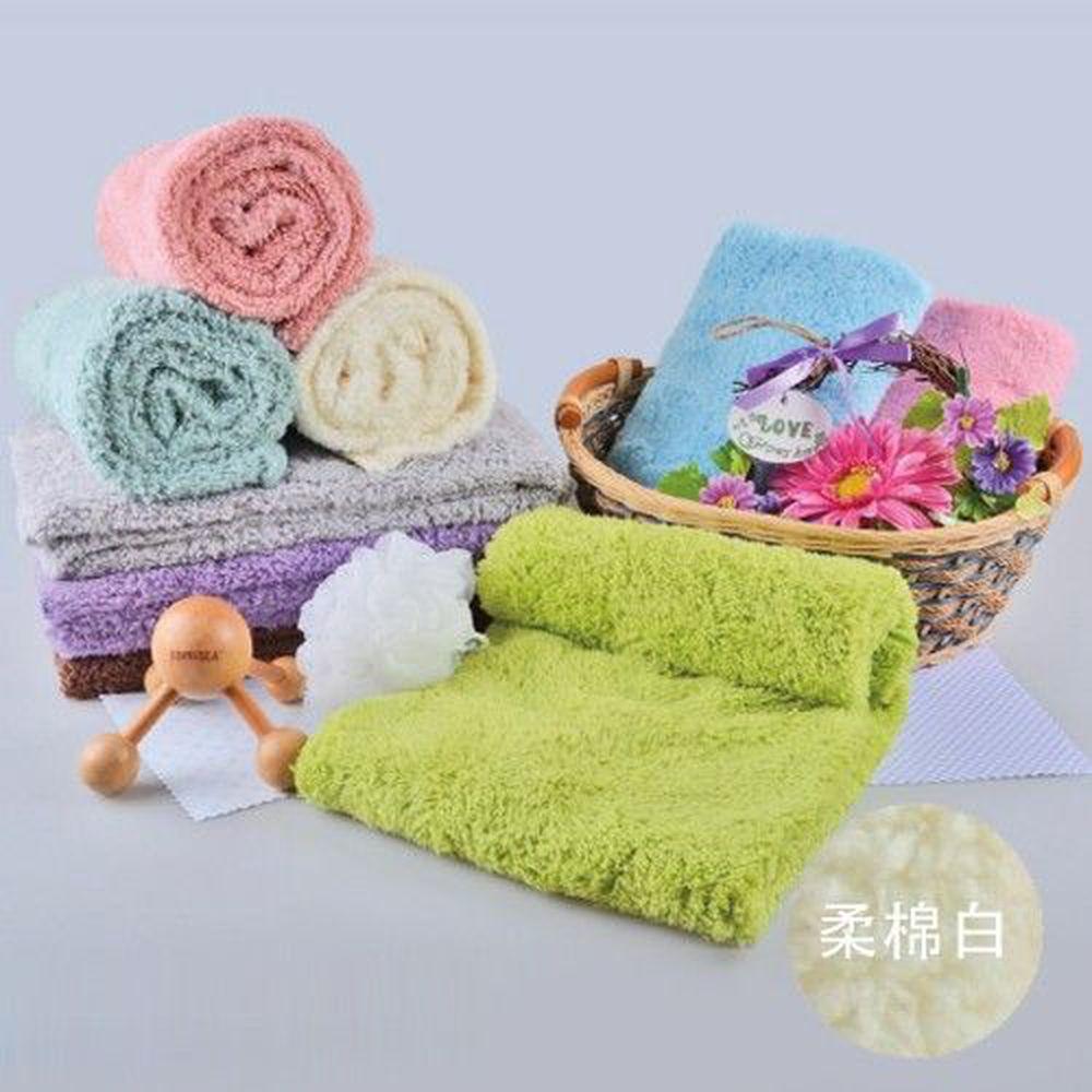 貝柔 Peilou - 超強十倍吸水超細纖維抗菌大毛巾/枕巾-柔棉白 (50x90cm)