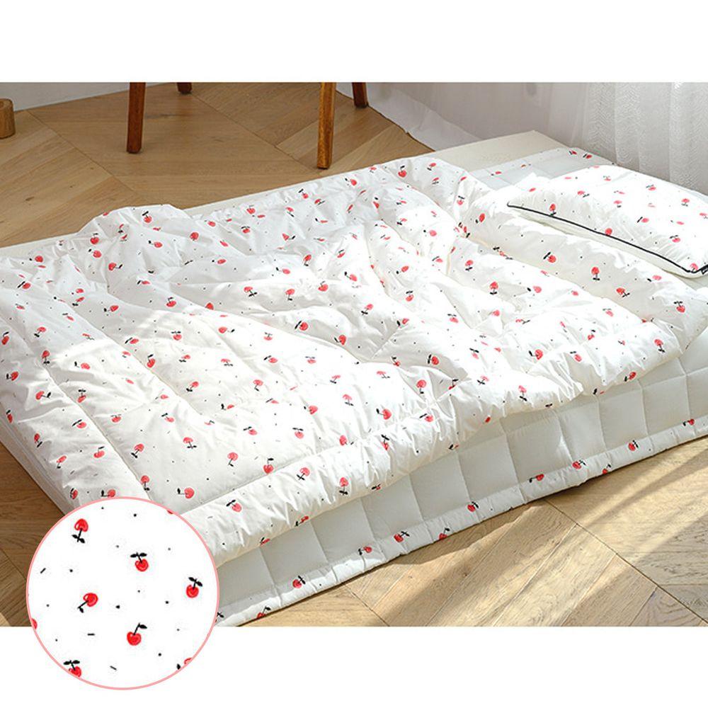 韓國 Formongde - 可水洗飯店防蟎棉被(雙面可睡)-紅紅櫻桃 (100X130cm)