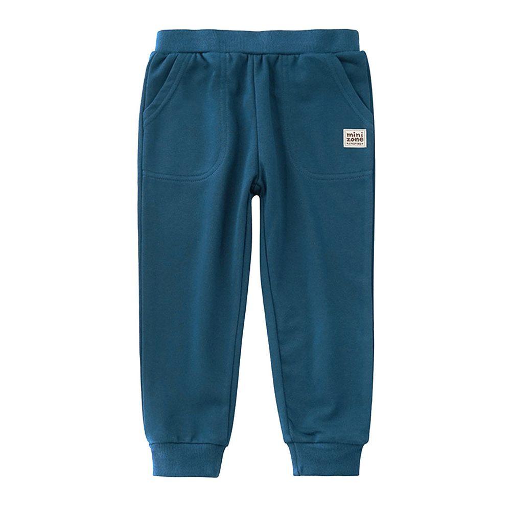 Minizone - 大口袋運動褲-藍綠色
