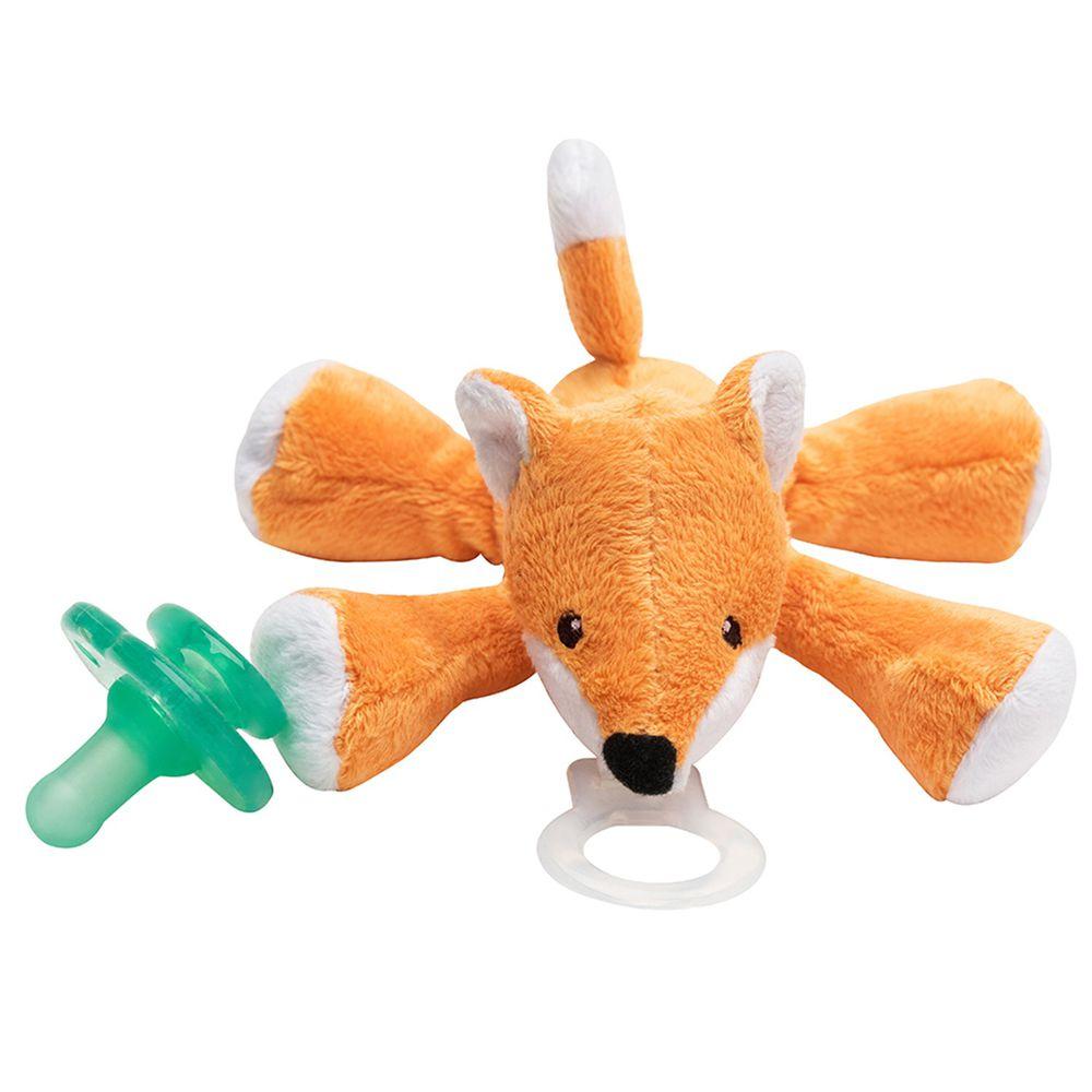美國 nookums - 寶寶 可愛造型 安撫奶嘴 / 玩偶-(搖鈴款) - 小狐狸