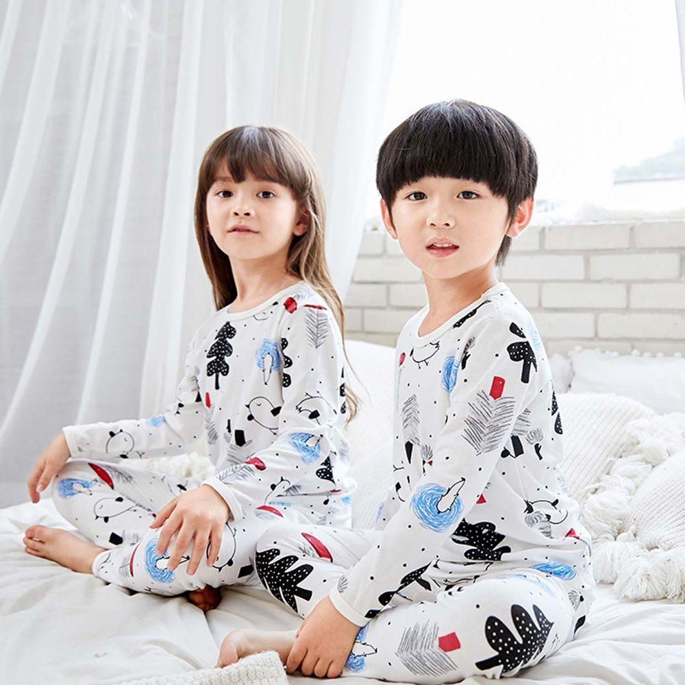 ZIHOU - 兒童秋季純棉居家服-北歐森林