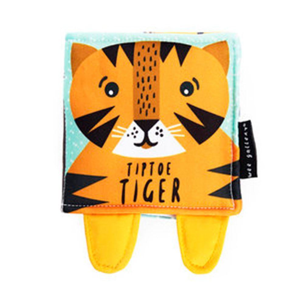 Kidschool - Tip Toe Tiger 踮腳走的小老虎:寶寶的第一本布書