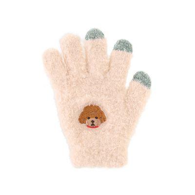 (兒童)可觸控可愛動物毛絨保暖手套