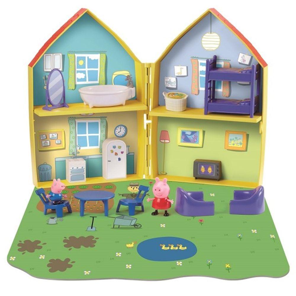 Peppa Pig 佩佩豬 - 粉紅豬小妹-夢幻對開房屋組