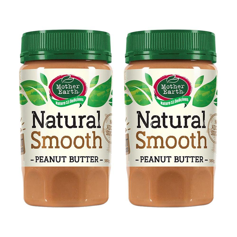 壽滿趣 - 紐西蘭Mother Earth超級花生醬2瓶組-絲滑 (380gx2)