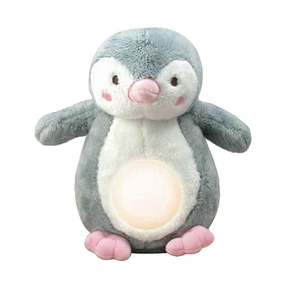小牛津 - 安撫企鵝寶貝(灰色)-絨毛企鵝+充電線+使用說明(充電式免裝電池)-充電式免裝電池
