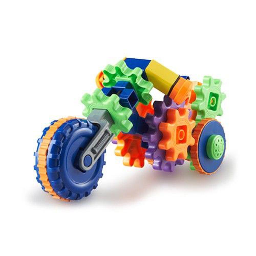 美國 Learning Resources - 轉轉齒輪建構系列-重型機車