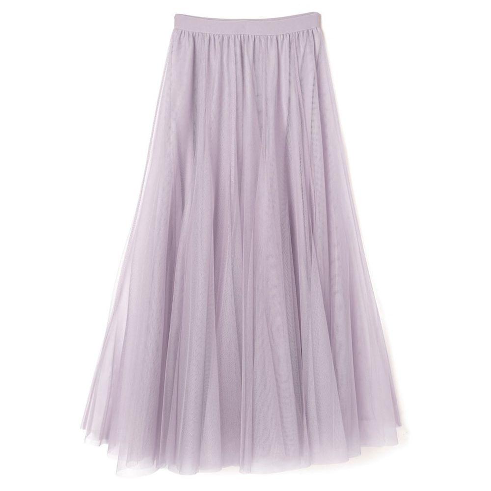 日本 GRL - 飄逸顯瘦雙層傘紗裙-浪漫紫