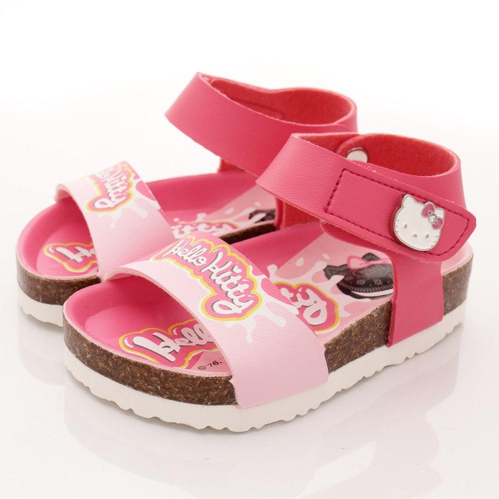 HELLO KITTY - 凱蒂卡通童鞋-餅乾軟木涼鞋款(中小童段)-桃