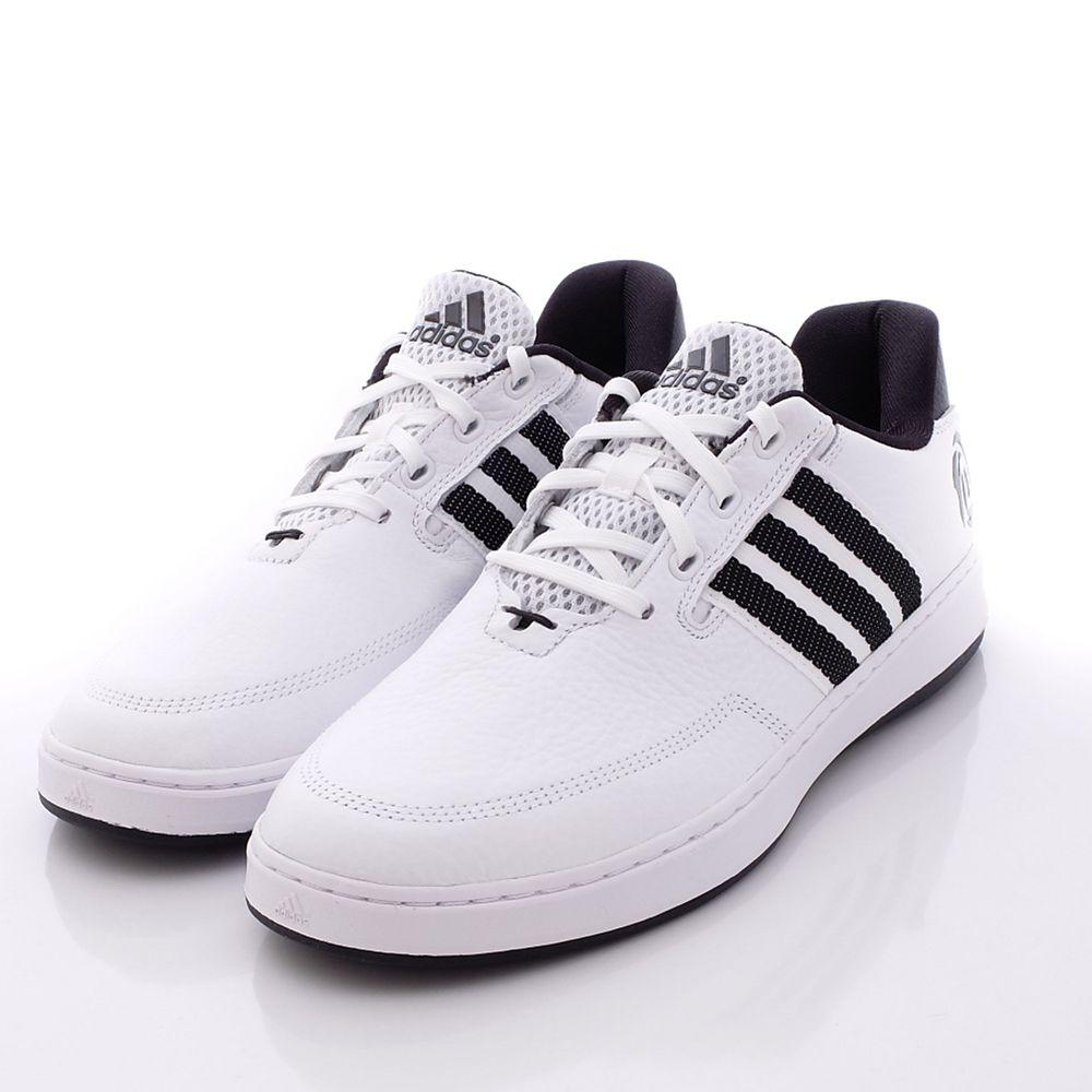 adidas - 愛迪達童鞋-皮質慢跑鞋款(成人男段)-白