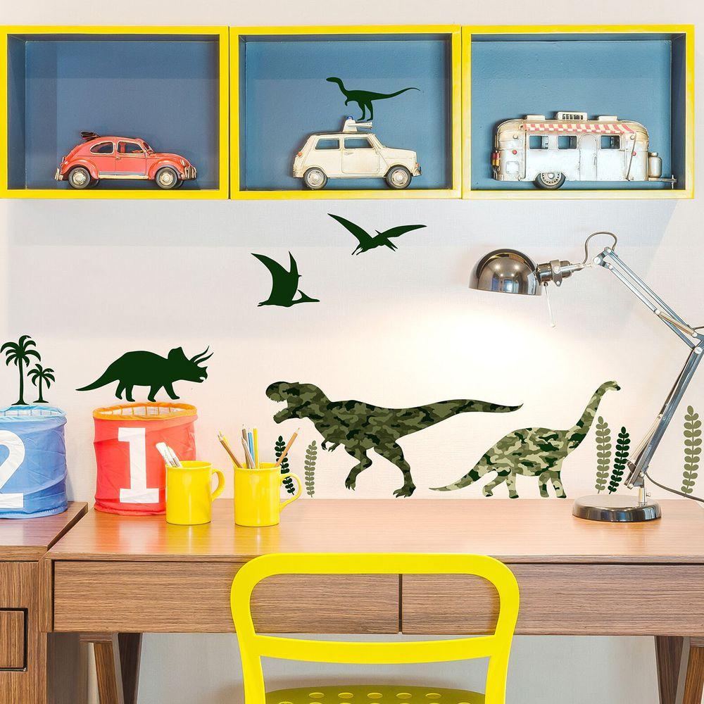 日本 TOKYO STICKER - 日本製 質感無邊框壁貼 [基本款]-迷彩侏羅紀 (A4)