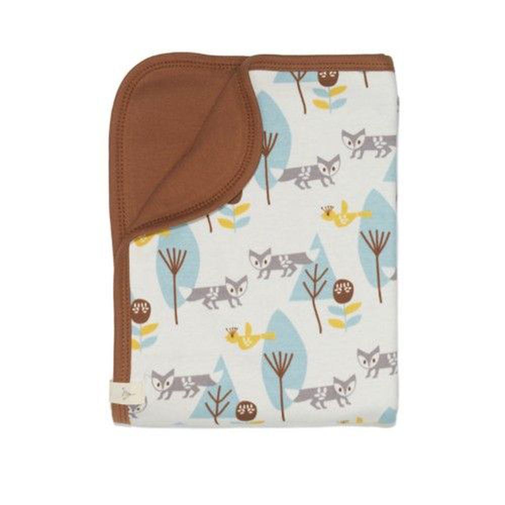 荷蘭 FRESK - 有機棉嬰兒毯-藍色小狐狸