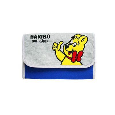 HARIBO 母子手帳包-經典皮夾型磁扣款-藍色