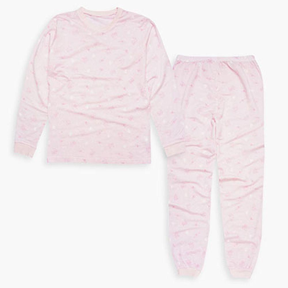 Annypepe - 女童95%天絲邱比特居家服-粉紅 (120-150cm)